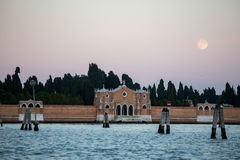 Sea and land in Venice Stock Photography