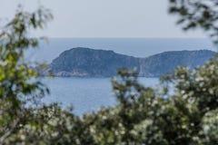 Seascape of Saint-Tropez stock images