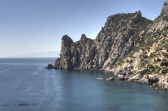 Sea landscape. Landscape of mountains and sea in the Crimea stock images