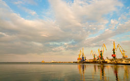 Sea landscape. With the beautiful cloudy sky Royalty Free Stock Photography