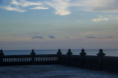Sea landscape. From balinese temple Tanah Lot Royalty Free Stock Photos