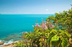 Sea landscape. Sea, beach and blue sky Stock Image