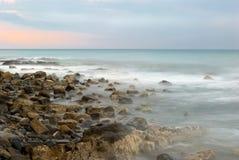 Sea landscape. Sea evening landscape. An light storm Stock Photo