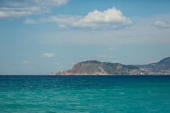 Sea landscape of Alanya bay Stock Images