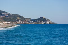 Sea landscape of Alanya Stock Images