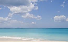 Sea landscape, Antigua. Nature landscape sea and beach in Antigua Caribbean islands stock photos