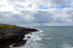 Sea landscape with bad weather and cloudy sky Stock Image