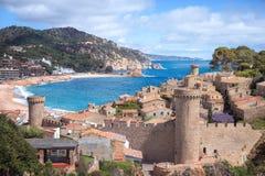 Sea landscape Badia bay in Tossa de Mar in Girona Royalty Free Stock Photos