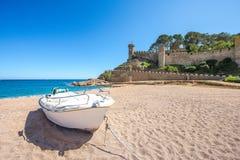 Sea landscape Badia bay in Tossa de Mar in Girona Stock Images
