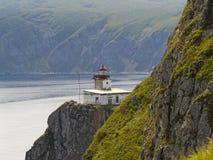 Sea landscape with a beacon Royalty Free Stock Photos