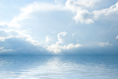 Sea landscape with  beautiful clouds Stock Photos