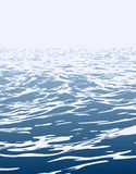 Sea landscape with big waves. Royalty Free Stock Photography
