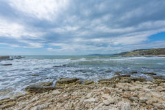 Sea Landscape. Black Sea seen from Balcic city Stock Image