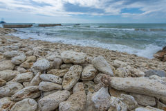 Sea Landscape. Black Sea seen from Balcic city Stock Photography