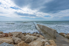 Sea Landscape. Black Sea seen from Balcic city Royalty Free Stock Photography