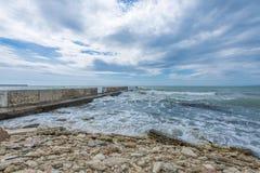 Sea Landscape. Black Sea seen from Balcic city Stock Photo