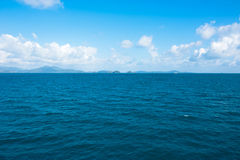 Sea landscape with blue sky and clouds Stock Image