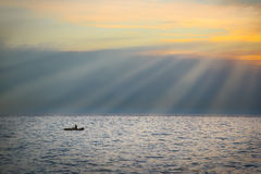 Sea landscape with boat Stock Photography