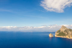 Sea landscape at the cape Formentor, Majorca, Spain. Sea landscape at the cape Formentor, Majorca, Balearic Islands, Spain Stock Images