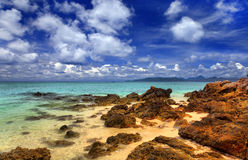 Sea landscape with clouds royalty free stock photo