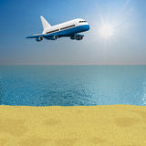 Sea landscape. 3D image Stock Photography