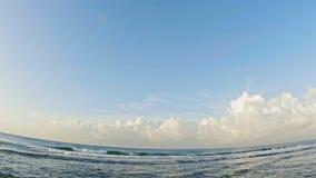 Sea landscape in Dominican Republic stock footage