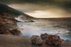 Sea landscape with dramatic sky Stock Photo
