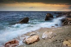Sea landscape with dramatic sky Stock Image
