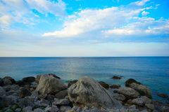 Sea landscape in the early morning on the Black . Royalty Free Stock Image