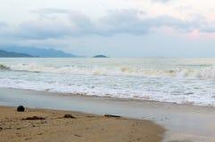 Sea landscape. Evening on the beach. Stock Photos