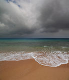 Sea landscape with moody sky Stock Photos