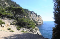 Sea landscape near Bandol, France Royalty Free Stock Photo