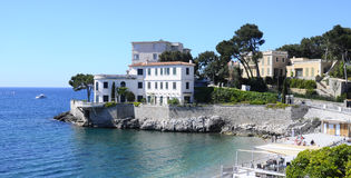 Sea landscape near Bandol, France. Mediterranean sea landscape in south france, near Bandol Stock Photos