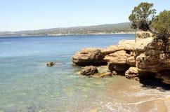 Sea landscape near bandol, France Royalty Free Stock Photography