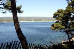 Sea landscape near bandol, France Royalty Free Stock Photos