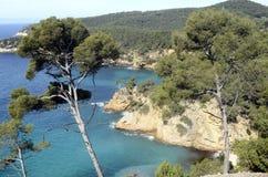 Sea landscape near bandol, France Stock Images