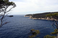 Sea landscape near bandol, France Royalty Free Stock Photo