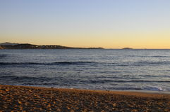 Sea landscape near Bandol, France. Sunset Mediterranean sea landscape in south france, near Bandol Royalty Free Stock Photo