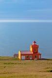 Sea Landscape with Orange Lighthouse Stock Photo