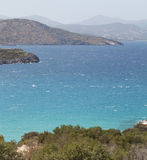 Sea landscape panorama of Crete, Greece Stock Photos