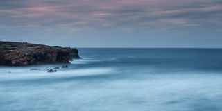 Sea landscape panorama. In the storm. Stock Images