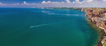 SEA LANDSCAPE PANORAMA Royalty Free Stock Images