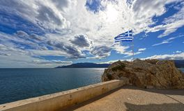 Sea and landscape at Peloponnese, Greece. Stock Images