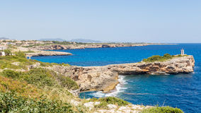Sea landscape in Port Cristo, Majorca Royalty Free Stock Image