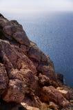 Sea landscape with rock. Capo Greco, Cyprus Stock Photos