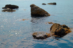 Sea landscape with rocks Royalty Free Stock Photos