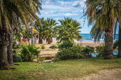 Sea Landscape Salou. Sea Landscape from Cambrills, Province of Tarragona , Spain Royalty Free Stock Photos
