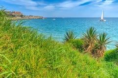 Sea Landscape Salou. Sea Landscape from Cap Salou, Province of Tarragona , Spain Royalty Free Stock Image