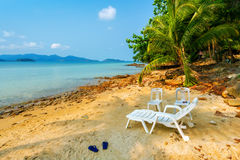 Sea landscape. Sea sandy beach, summer vacation Stock Image