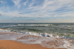 Sea landscape. Seascape photographed on a summer day Stock Images